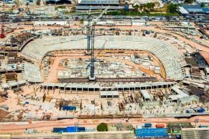 Arena Amazônia: 45% das obras concluídas.