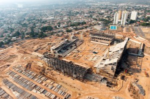 Arena Pantanal: 47% das obras concluídas.