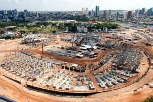 Arena das Dunas: 38,5% das obras concluídas.