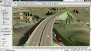 No programa BIM, é possível simular desde o pavimento ideal até por onde passarão as tubulações de saneamento, rede elétrica e gás na rodovia.