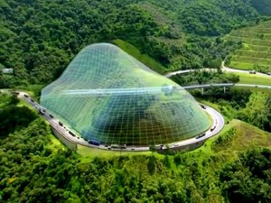 Projeção gráfica de túnel na Serra do Cafezal: construção exigirá a importação de equipamentos.