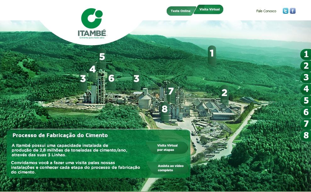 Vídeo sobre processo industrial da Itambé: animação desperta curiosidade e ensina como se produz cimento.