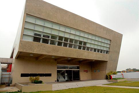 Fachada do prédio onde fica a diretoria da Coppe e abriga o Centro de Gestão Tecnológica (CGTEC da Coppe).