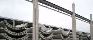 Transporte das peças de concreto é mais fácil, se comparado às de aço.