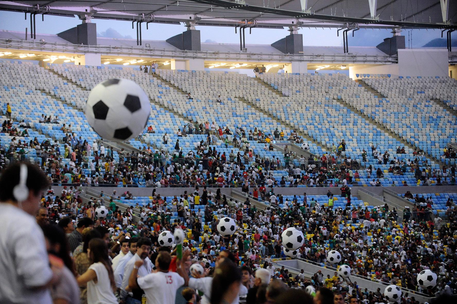 Maracanã: pronto para ser o principal palco da Copa do Mundo de 2014.