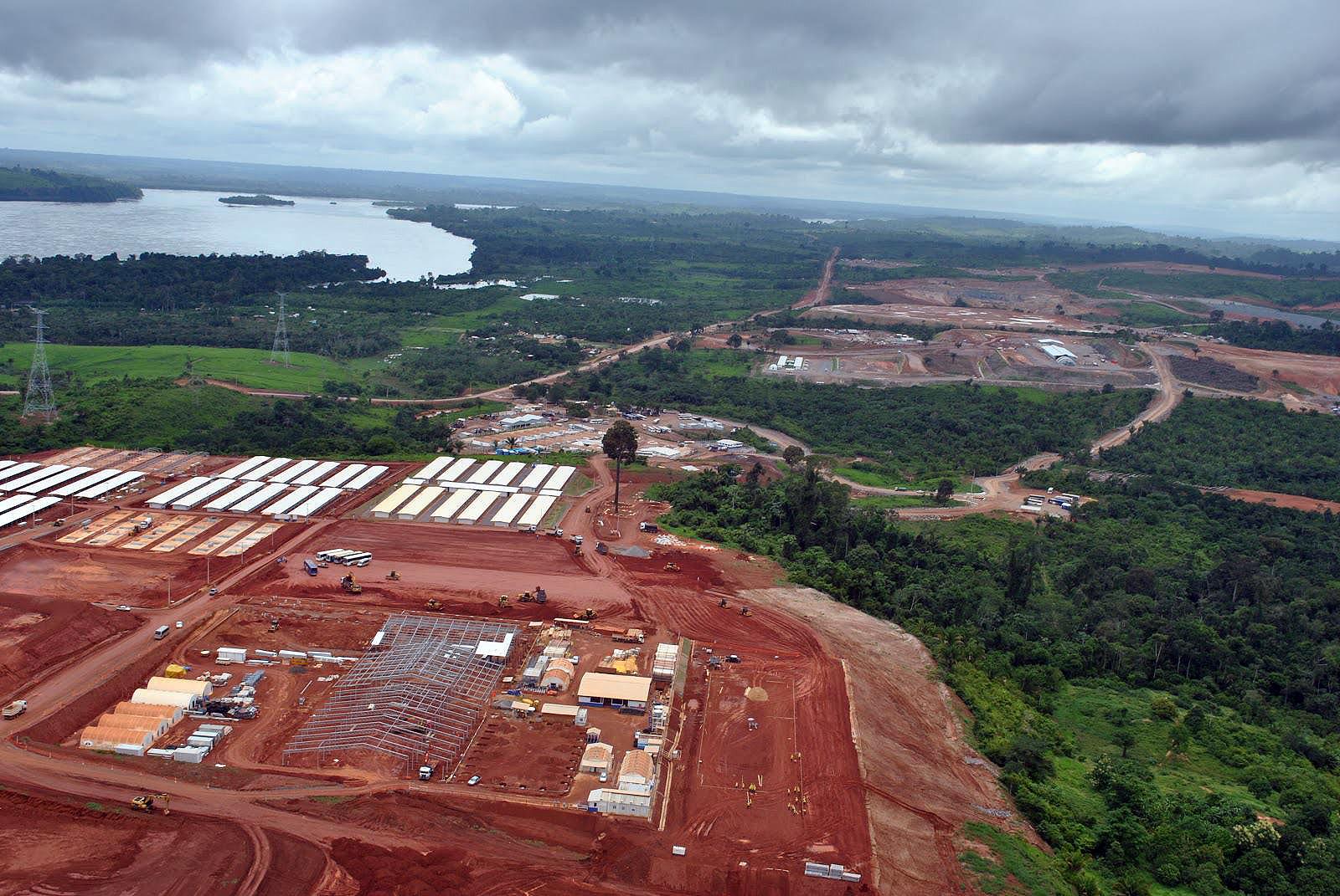 Canteiro de obras da usina hidrelétrica Belo Monte: seguidas paralisações fizeram custo da obra duplicar.