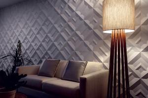 Revestimentos cimentícios também podem ser usados na decoração de paredes.