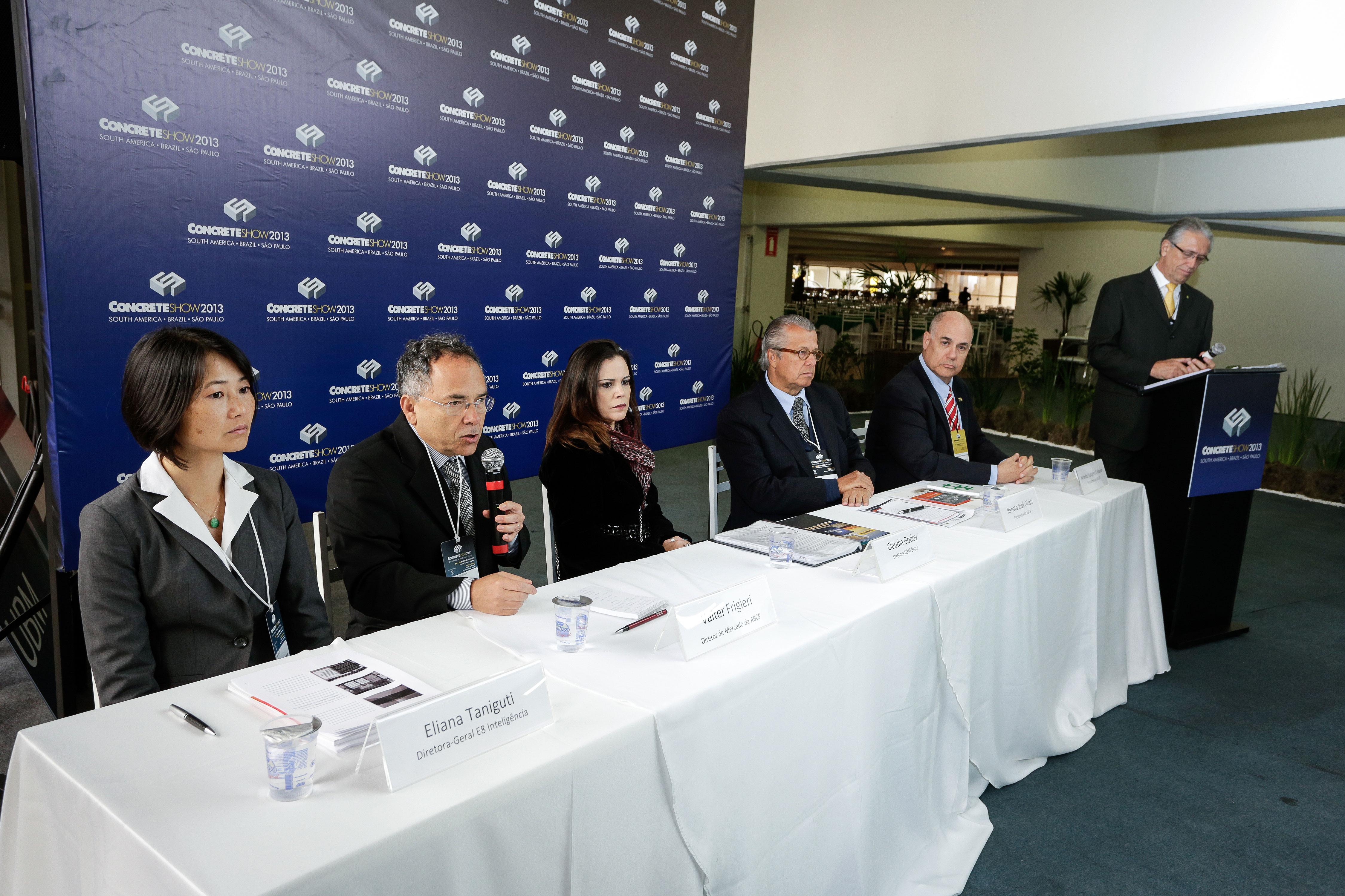 Divulgação da pesquisa encomendada pela ABCP ocorreu no Concrete Show 2013