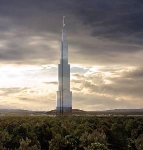 Sky City One: maior parte do concreto estará nas fundações do edifício