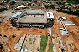 Arena Pantanal, em Cuiabá: perto de 90% das obras estão prontas