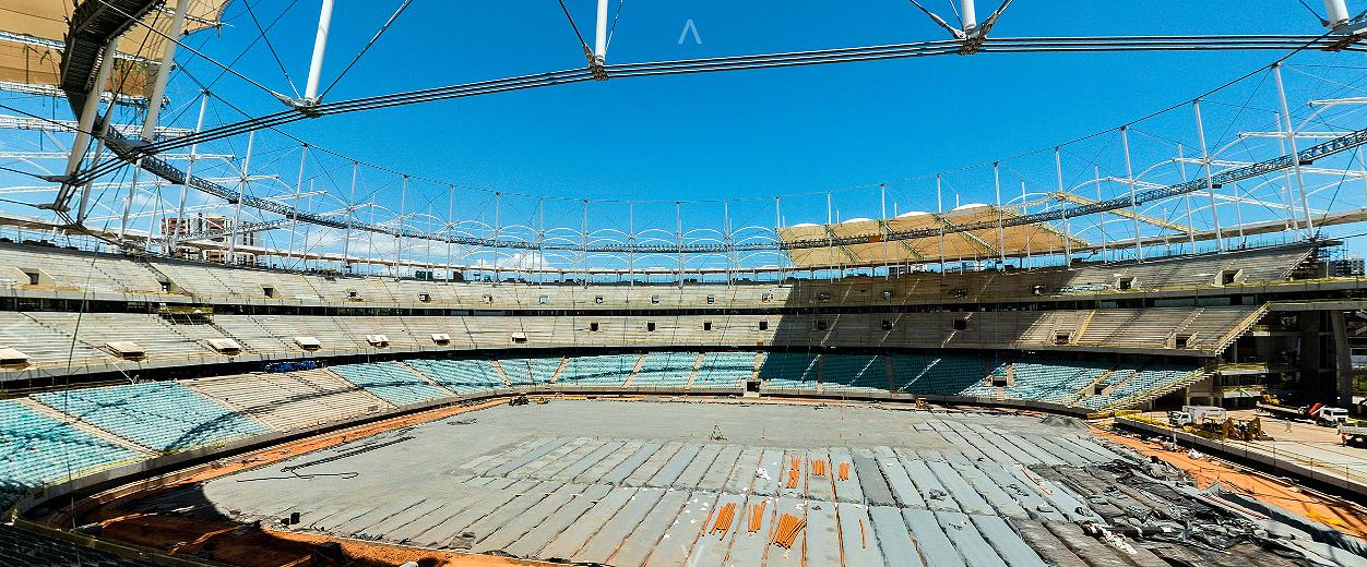 Arena Fonte Nova: considerado o estado de arte da construção com pré-fabricados de concreto.