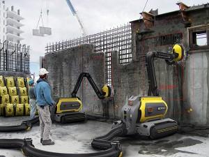 Criado na Suécia, o ERO remove o concreto armado e o recicla para o uso em peças pré-fabricadas