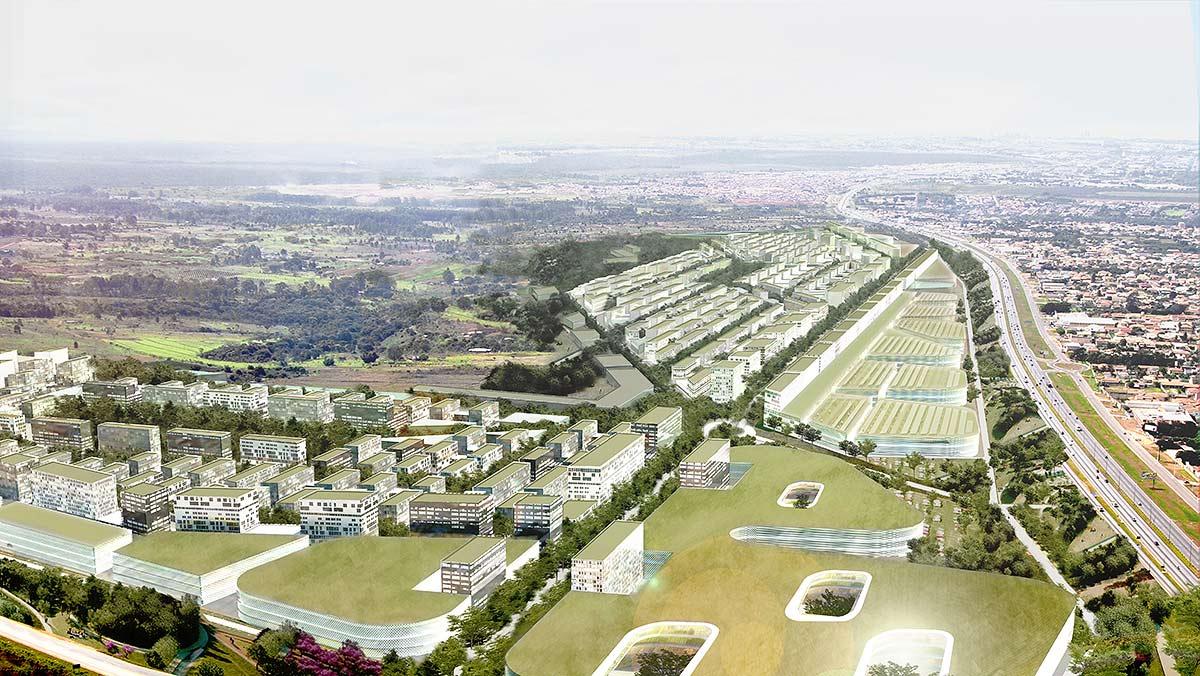 Bairro planejado em Brasília, assinado por Fermín Vázquez: um dos primeiros starchitects a se instalar no país