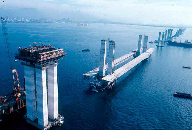 Concreto protendido predominou na estrutura da ponte: uma inovação para a época