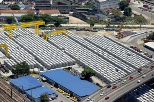 Fábrica de aduelas, no centro do Rio: 22 mil peças pré-fabricadas de concreto para revestir túneis