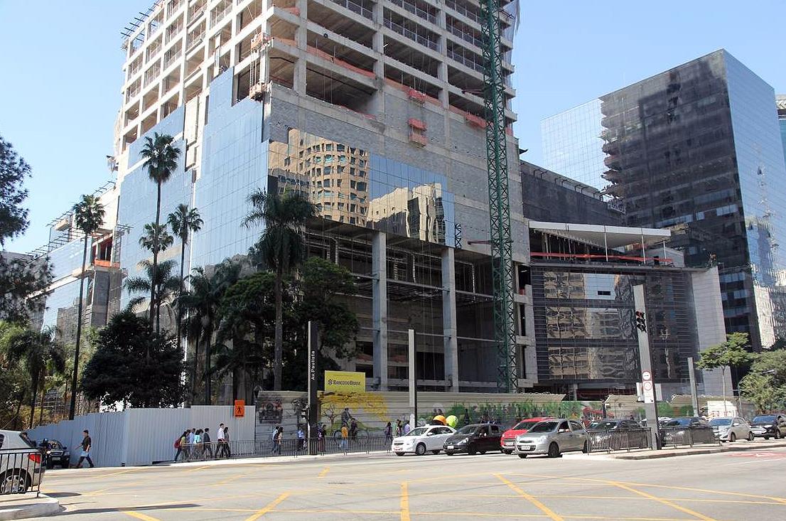 Complexo Torre Matarazzo e Shopping Cidade São Paulo, em 2014: cronograma entra na reta final