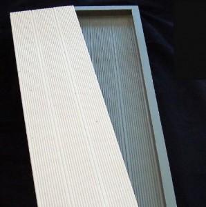Peças de concreto para deck: após receber pintura, ficam iguais à madeira