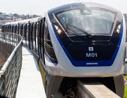 Monotrilho de São Paulo: 2,9 quilômetros operam experimentalmente, 7,7 quilômetros funcionarão em 2015 e 26,6 quilômetros estarão prontos até 2017