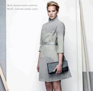 Moda para o dia a dia, criada pelo Estúdio IVANKA, empresta ao couro e à camurça a mesma textura do concreto