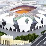 Estádio de Ecaterimburgo: quase uma cópia fiel da Arena Amazônia