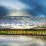 Rotor Arena: estrutura de aço irá envolver o estádio na Copa 2018