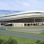 Estádio de Yubileyniy: inspirado nas linhas do Alianz Arena, usado na Copa de 2010