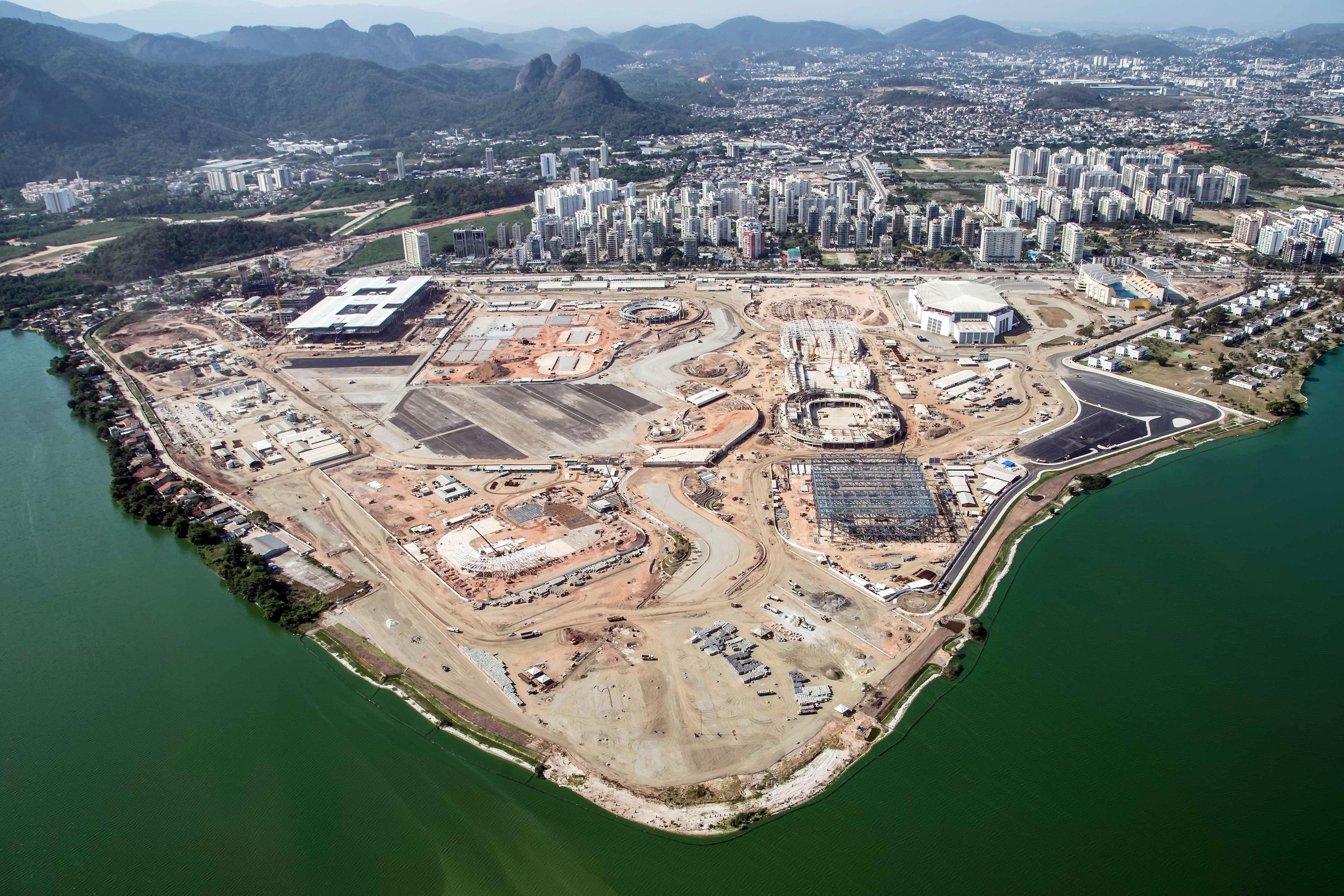 Vista panorâmica do parque olímpico: obras mobilizam 4.500 trabalhadores