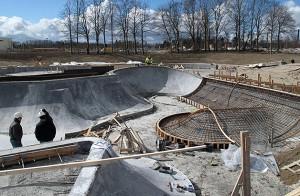 Ao construir o parque Rabalder, engenheiros projetaram piscinões em formato de pistas de skate: ideia inovadora