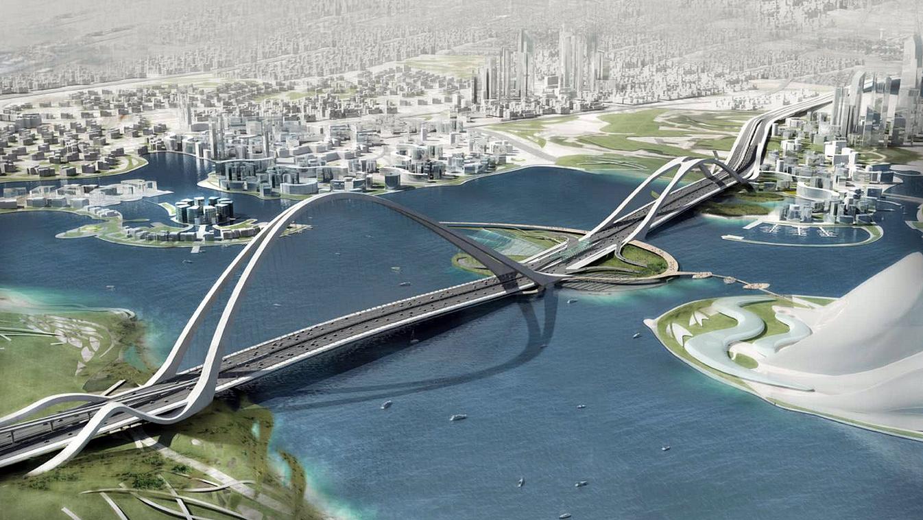 SheikhRashid bin Saeed Bridge: ponte para 20 mil veículos por hora e acoplada à linha de metrô