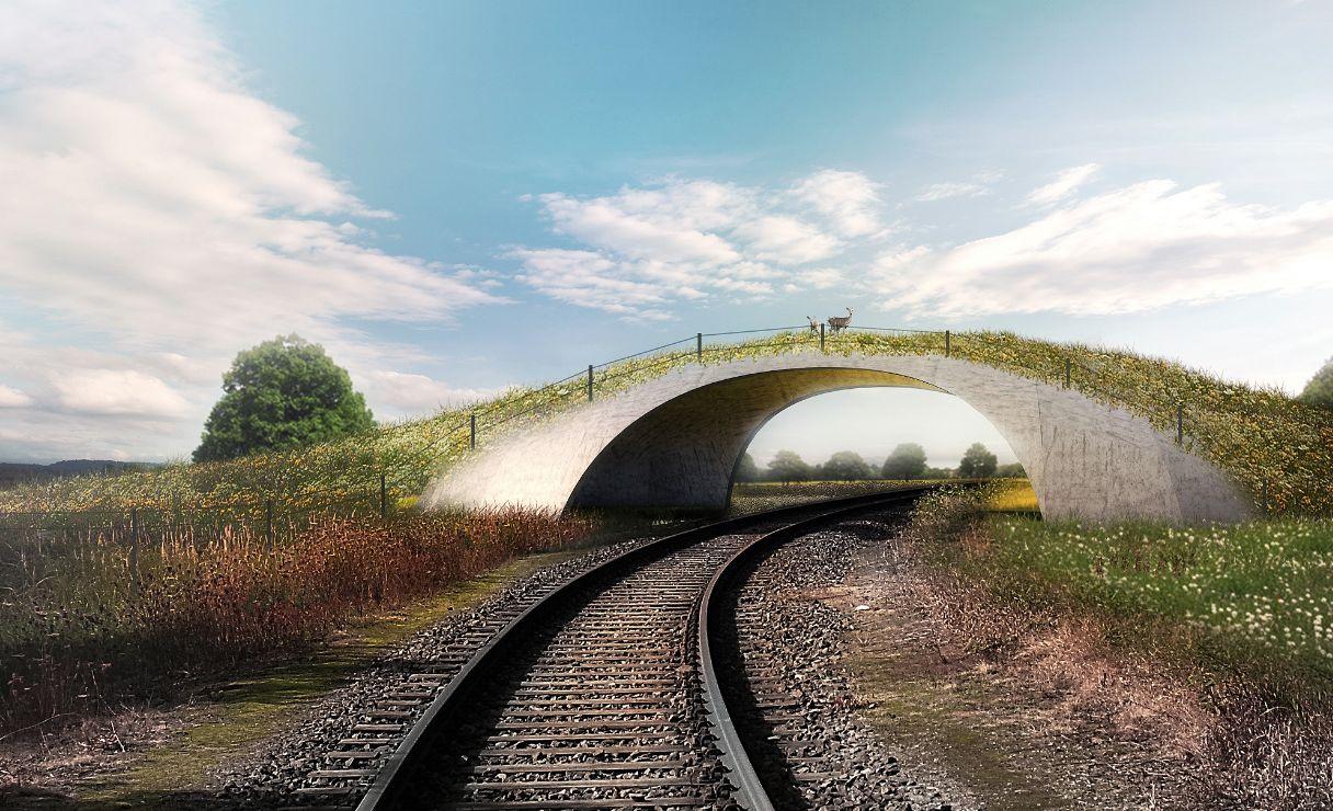 Pequenas passarelas sobre ferrovias também podem se beneficiar da invenção