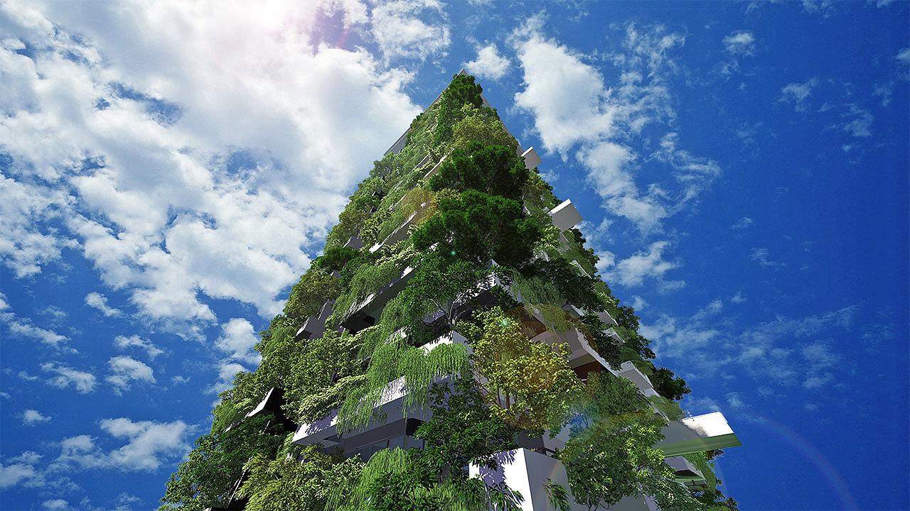 Clear Point Residence: construção inovadora mostra simbiose entre concreto e meio ambiente