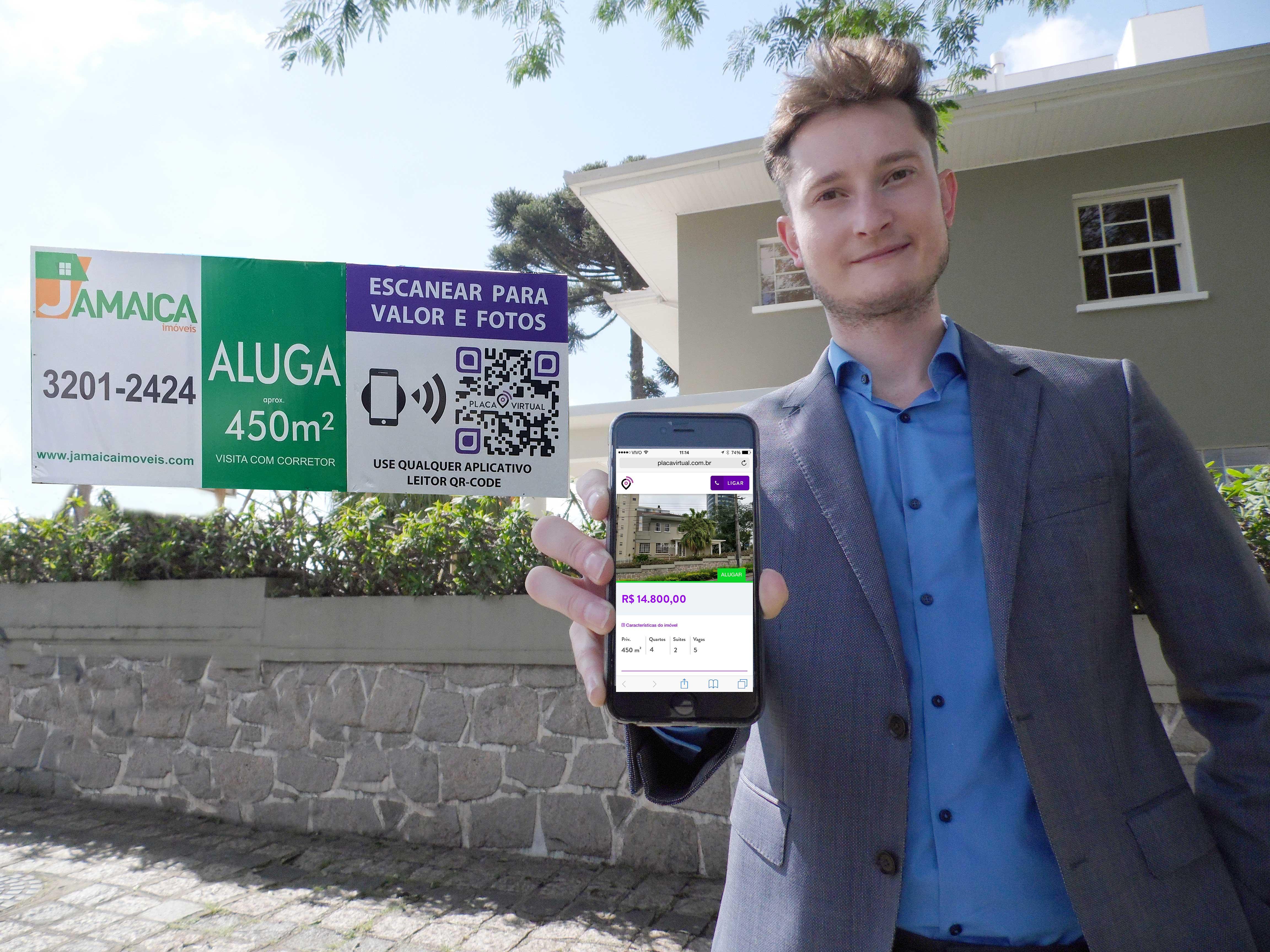 Thiago Folador, um dos inventores do aplicativo: tirando a placa imobiliária da idade da pedra
