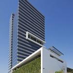 Edifício Odebrecht, em São Paulo: uso de vitrocerâmica, com tecnologia importada do Japão
