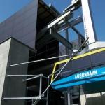 Estação teleférica Ahornbahn, na Áustria: placas de concreto colorido com desempenho térmico