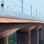 Ponte Arsta, em Estocolmo: concreto colorido protege obras de arte de patologias