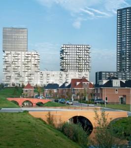 Pontes sobre o canal Het Len, em Roterdã: sete estruturas com cores diferentes