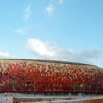 Estádio Soccer City, na África do Sul: versatilidade do concreto colorido permite que ele esteja em todos os tipos de obras