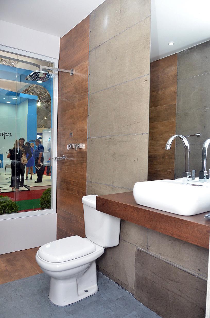 Placas ciment cias evoluem e chegam ao banheiro cimento - Placas para paredes interiores ...