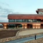 Prédio corporativo da Daum, na Coreia: concreto colorido tábuas de madeira