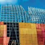 Estrutura em aço e concreto pré-fabricado foi revestida por concreto projetado