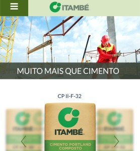 Versão mobile do site da Itambé: agora ele pode ser acessado de qualquer lugar, pelo smartphone.