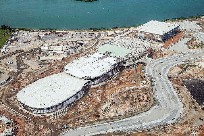 Arena Carioca: obra está avançada e será entregue até o final de 2015