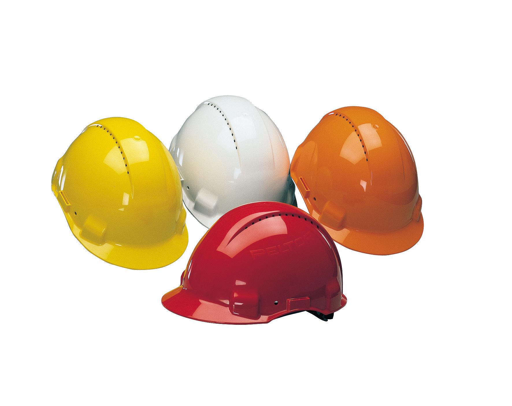Cores dos capacetes não são por acaso. Tons seguem padrões que priorizam a segurança e a organização