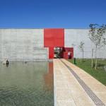 Datacenter do Banco Santander, em Campinas-SP: projeto investiu também no concreto aparente para ganhar luminosidade