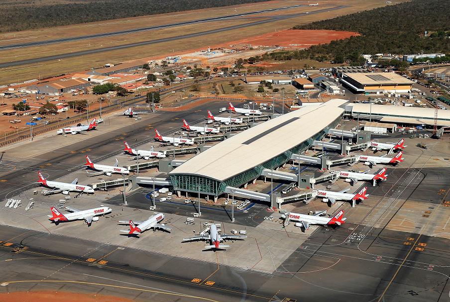 Aeroporto de Brasília: obras de ampliação consumiram volume de concreto na ordem de 7.318 m³