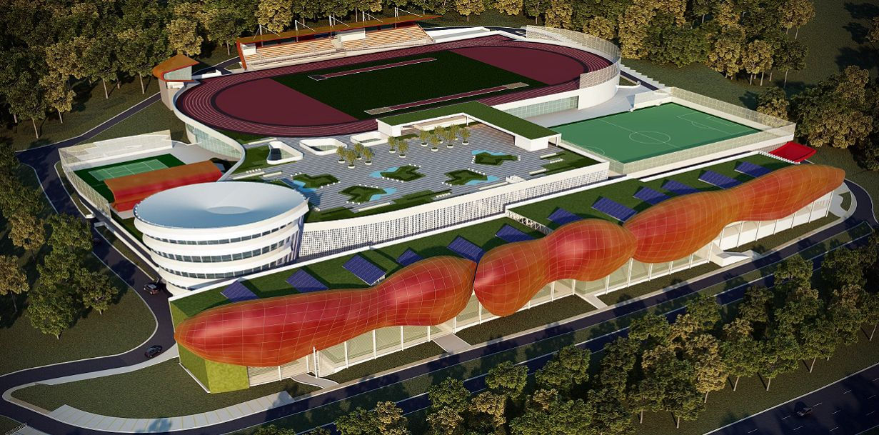 Projeção de como ficará o Centro de Treinamento Paralímpico, quando concluído