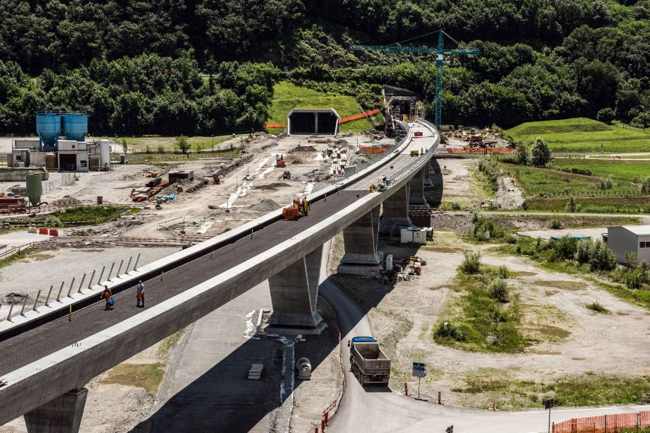 Lado suíço do túnel já está finalizado e pronto para a inauguração em 2016