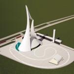 Maquete da Catedral Cristo Rei, em BH: projeto original de Niemeyer foi preservado