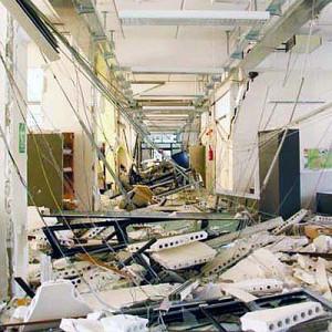 Paredes de vedação com tijolos são as que mais causam ferimentos em pessoas durante os tremores