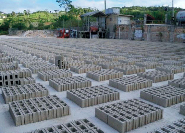 Blocos de concreto: outra conquista do setor foi a isonomia de ICMS com o bloco cerâmico.